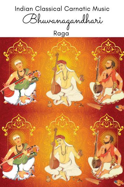 Bhuvanagandhari is the janya raga of the 20th Melakarta raga Natabhairavi
