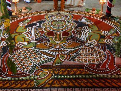 Indian Art and Craft – Kalamezhuthu Paattu